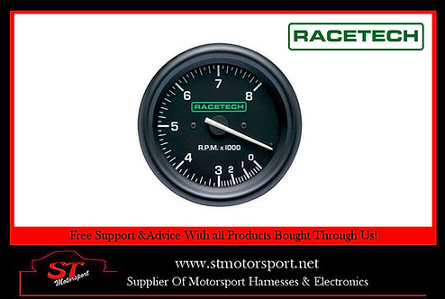 Racetech Rev Counter Tachometer 0-10000 RPM Without Shift Lights