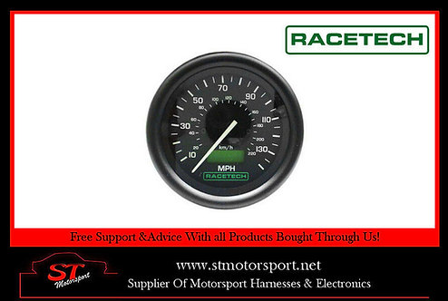 RaceTech Electrical Speedometer 80mm Diameter 0-130MPH