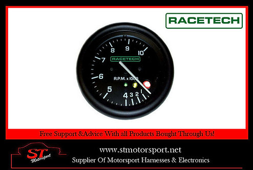 Racetech Rev Counter Tachometer 0-10000 RPM With Shift Light