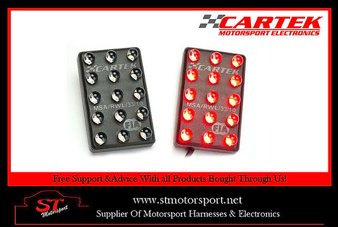 Cartek FIA & MSA Approved Racing Horizontal Mount 15 LED Rain Light/Rainlight
