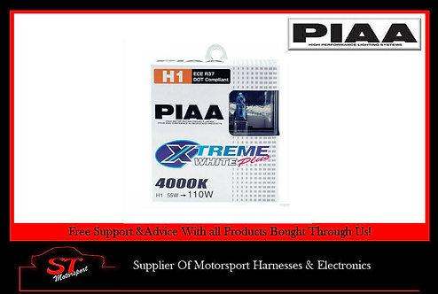 PIAA HE307 H1 Extreme White Plus Bulbs 4000K 12V 55W Pair