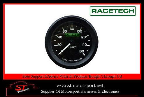 RaceTech Mechanical Oil Pressure Gauge 52MM 0-160PSI 1/8 BSP