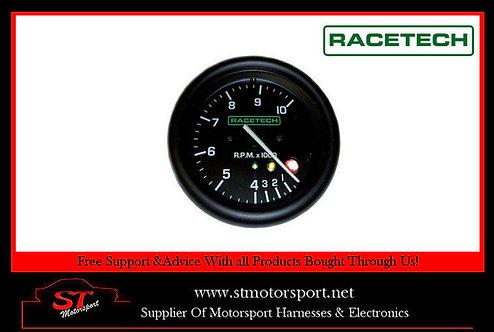 Racetech Rev Counter Tachometer 0-8000 RPM With Shift Lights