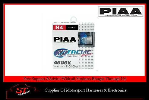 PIAA HE303 H4 Bulbs Xtreme White Plus Bulbs 4000K 12V 60/55W Pair