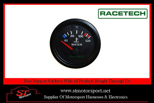 Racetech Electrical Water Temperature Gauge 52mm 0-120c rally/race/motorsport