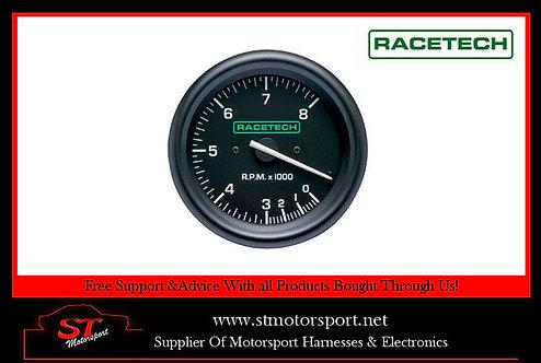 Racetech Rev Counter Tachometer 0-12000 RPM Without Shift Lights