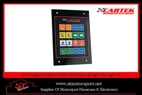Cartek Race / Rally Car Electrical / Battery Power Distribution Switch Panel