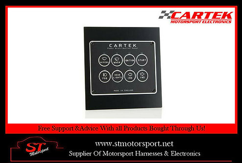 Cartek 8 Channel Power Distribution Panel - Retro Edition - Motorsport/Rally/Ra