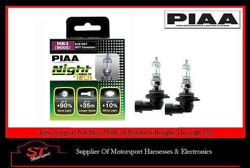 PIAA HB3 Night Tech Bulbs 60W 90% Brighter HE825