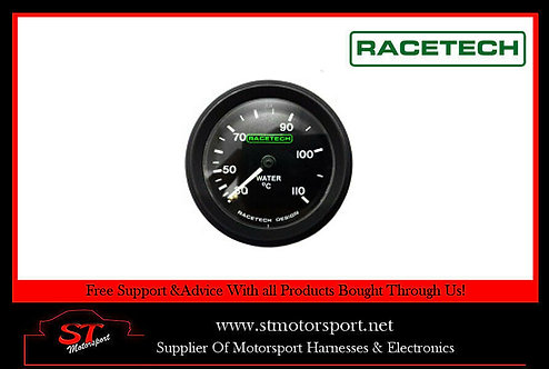 Racetech Mechanical Water Temperature Gauge 52mm 7FT Capillary