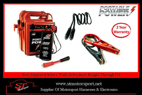 Dual Portable Power Pack 1800RC Jump/Battery Booster 1x 80CM 1x 2M Lead