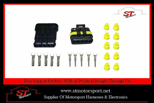 Tyco AMP Electrical Waterproof Connector 5 Way Kit