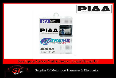 PIAA HE305 H3 Xtreme White Plus Bulbs 4000K 12V 55W Uprated Fog Lights (Pair)