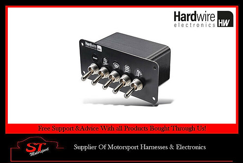 Hardwire Electronics 4 Latching 1 Momentary Switch Panel