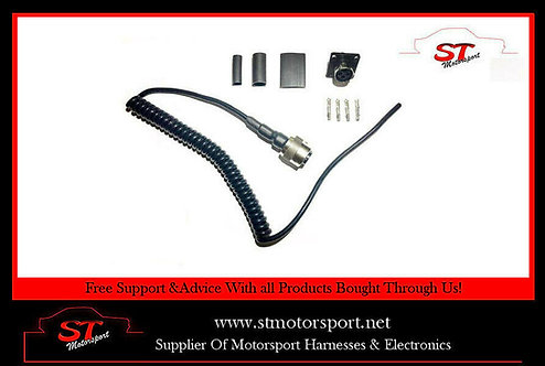 4 Core Flexi Steering Wheel/Wheel Button Lead - Motorsport/Rally/Race