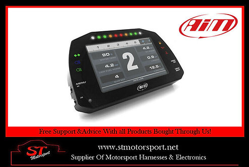Aim Motorsport MXS Strada Dash Display With Street Icons & CAN Cable Rally/Race