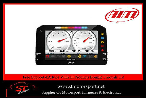 "Aim MXP Strada TFT 6"" Dash Display - Road Version - CAN Loom"