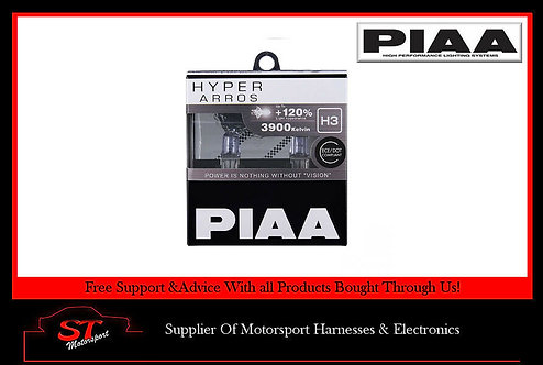 HE-901 PIAA H3 Hyper Arros 3900K Uprated Performance Bulbs 120% Brighter
