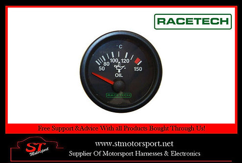 Racetech Electrical Oil Temperature Gauge 0-150 c