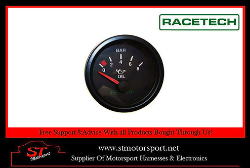 Racetech Electrical Oil Pressure Gauge 0-8 Bar