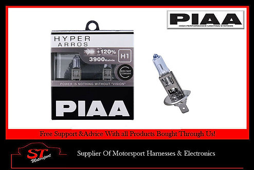PIAA H1 Hyper Arros 3900K 55w Uprated Car Bulbs 120% Brighter