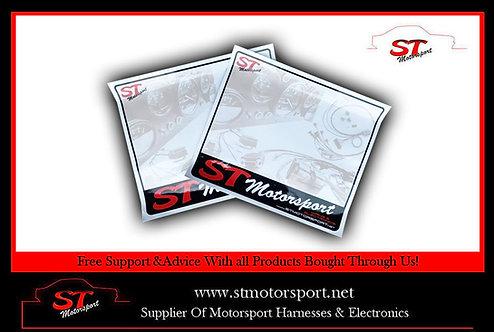 S.T.Motorsport 2 x Vinyl Door Square Decals - Rally/Race/Motorsport
