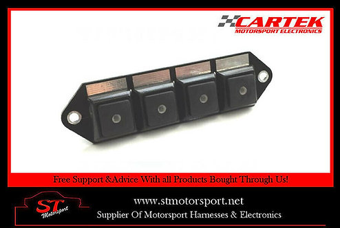 Cartek Power Distribution Module Switch Panel 4W All Black