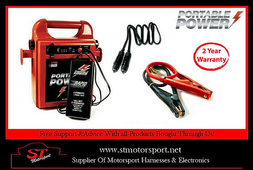 Portable Power 1800RC Rapid Charge Jump Starter Booster Pack. 80cm lead