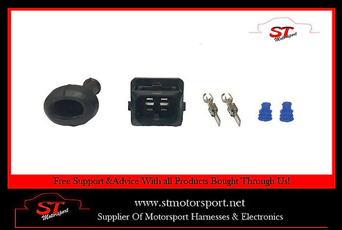 2 Pin Junior Power Timer Male Fuel Injector Connector