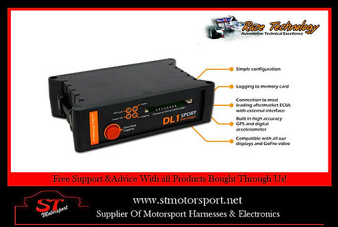 Race Technology DL1 Sport data logger (Dash2,Stack,AIM) Motorsport/Rally/Race