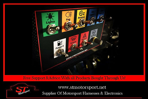 Vinyl Switch/dash Panel Layout Design Service- Rally/race/motorsport