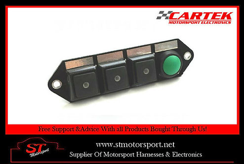 Cartek Power Distribution Module Switch Panel 4W (Black & Start)