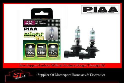 PIAA HB4 Night Tech Bulbs 90% Brighter HE826 12V