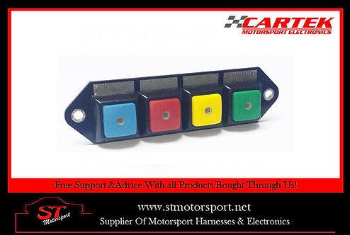 Cartek Power Distribution Module Switch Panel 4W (Multi Colour Plain)