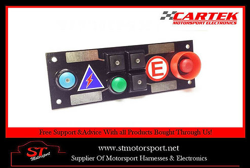 Cartek Power Distribution Module Switch Panel 6W (Black & Start Plain)