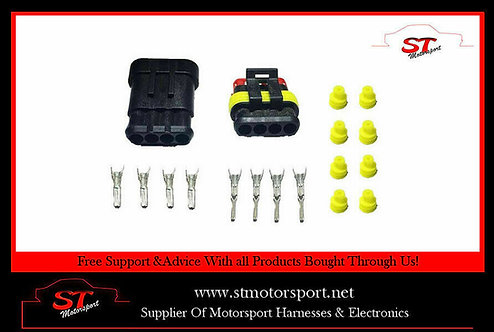 Tyco AMP Electrical Waterproof Connector 4 Way Kit