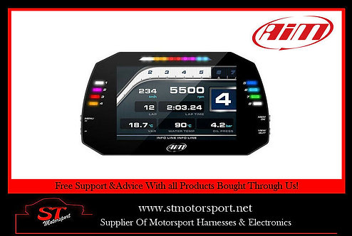 AIM Motorsport MXS Strada Dash Display Street Icons, OBDII/K-Line Connection