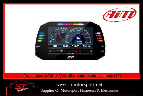 "AIM Motorsport MXG 1.2 Strada Dash 7"" Colour TFT Display CAN Connection"