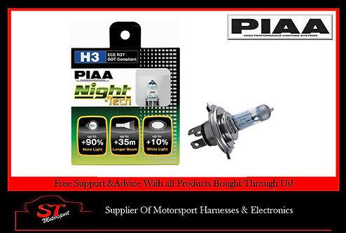 PIAA Night Tech H3 Bulbs 55W Produces 125W HE821