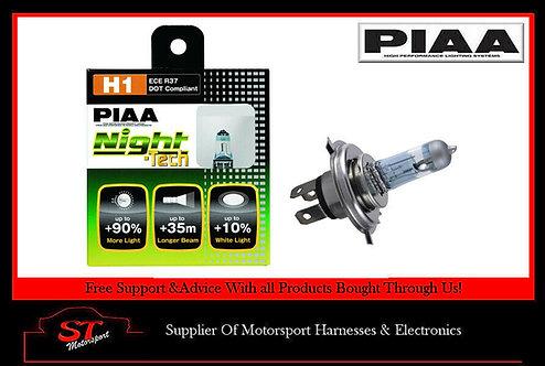 PIAA Night Tech Bulbs H1 HE822 Draws 55w Produces 125W