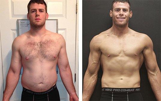 Adam, 28, lost 40lbs