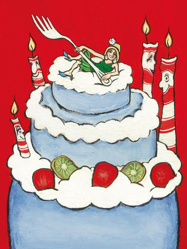 JW018 Birthday cake