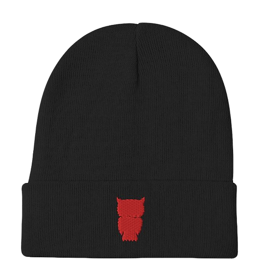 Red Owl Beanie (Black)