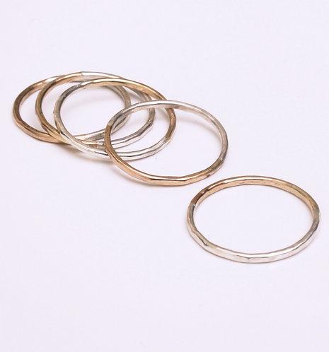 Silver and Gold Rings - Modrwyau Arian ac Aur