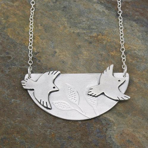 Silver Bird Necklace - Mwclis Adar Arian