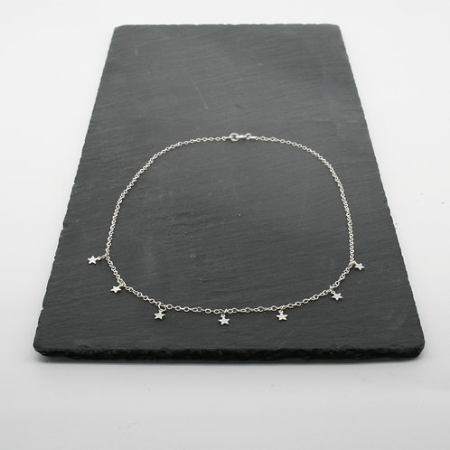 Silver Stars Necklace – Mwclis Sêr Bach