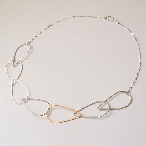 Teardrop link necklace - Cadwyn siap deigryn