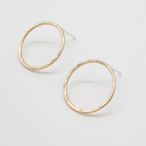 Circle Earrings - Clustdlysau Cylch
