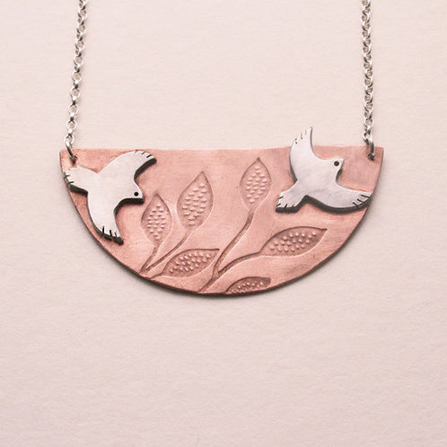 Copper Bird Necklace - Mwclis Adar Copr