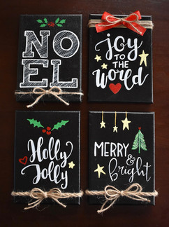 """5x7"""" Holiday Canvases"""